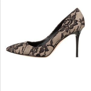 Brian Atwood | Like New | Lace Pointed toe Pumps